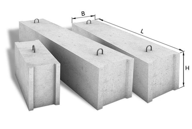 Бетонные фундаментные блоки.