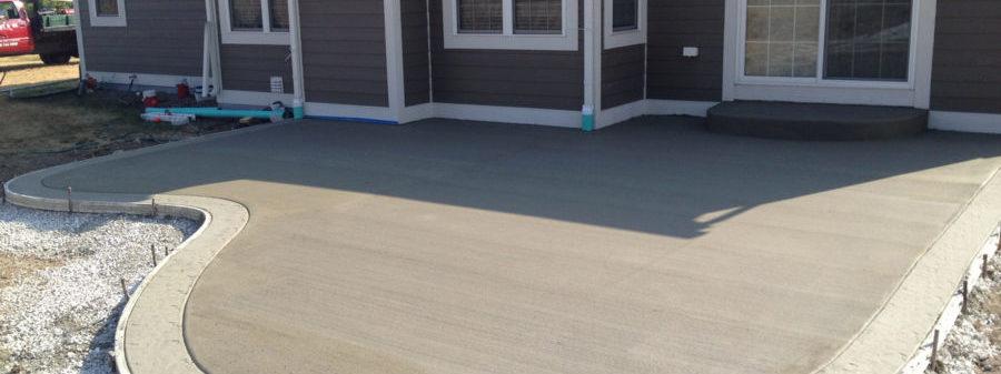 бетонный двор