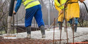 укладка бетона под дождем, советы рекомендации