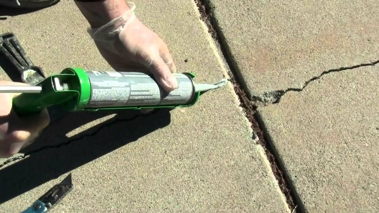 ремонт трещин в бетоне